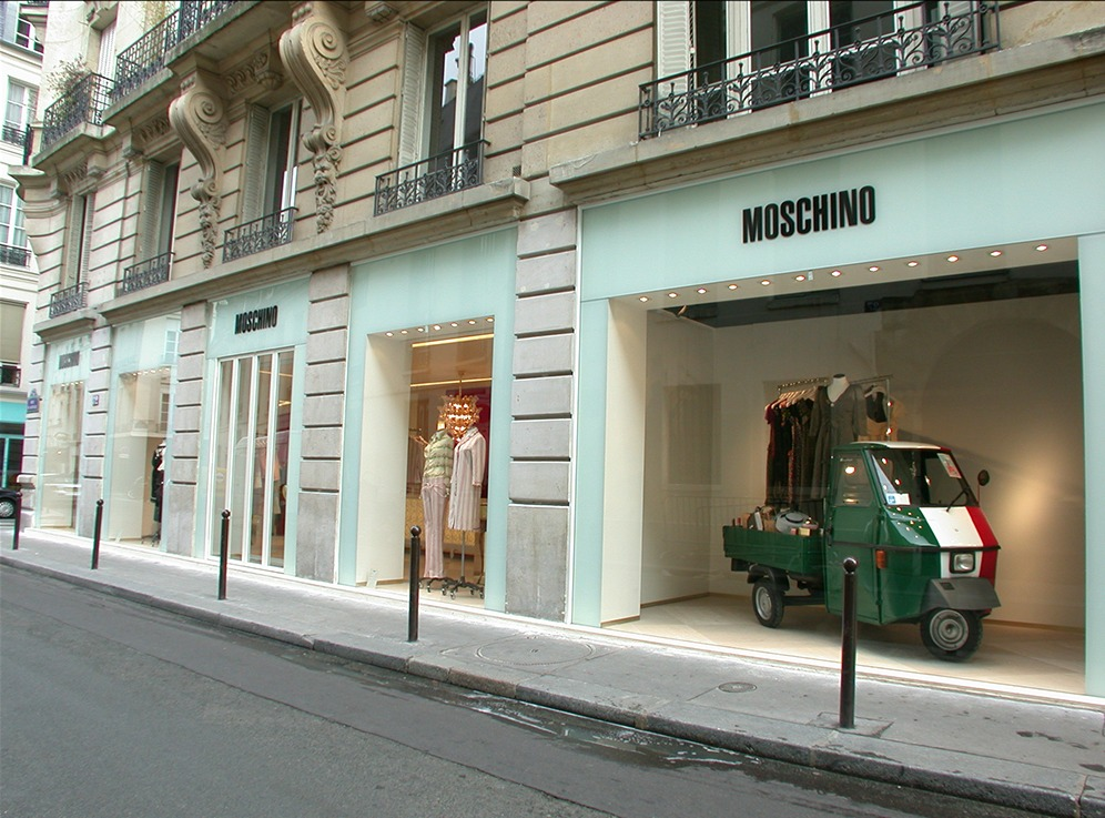 Moschino Paris retail interior design sean dix