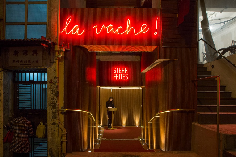 La Vache Hong Kong restaurant interior design Sean Dix