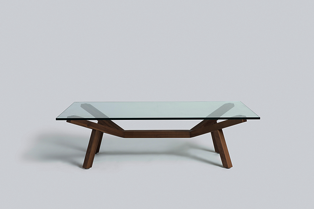 Forte table with glass top Sean Dix furniture design