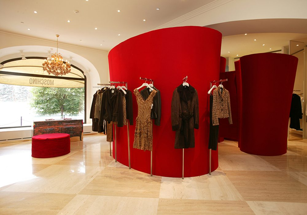 MOSCHINO MOSCOW SEAN DIX retail interior design