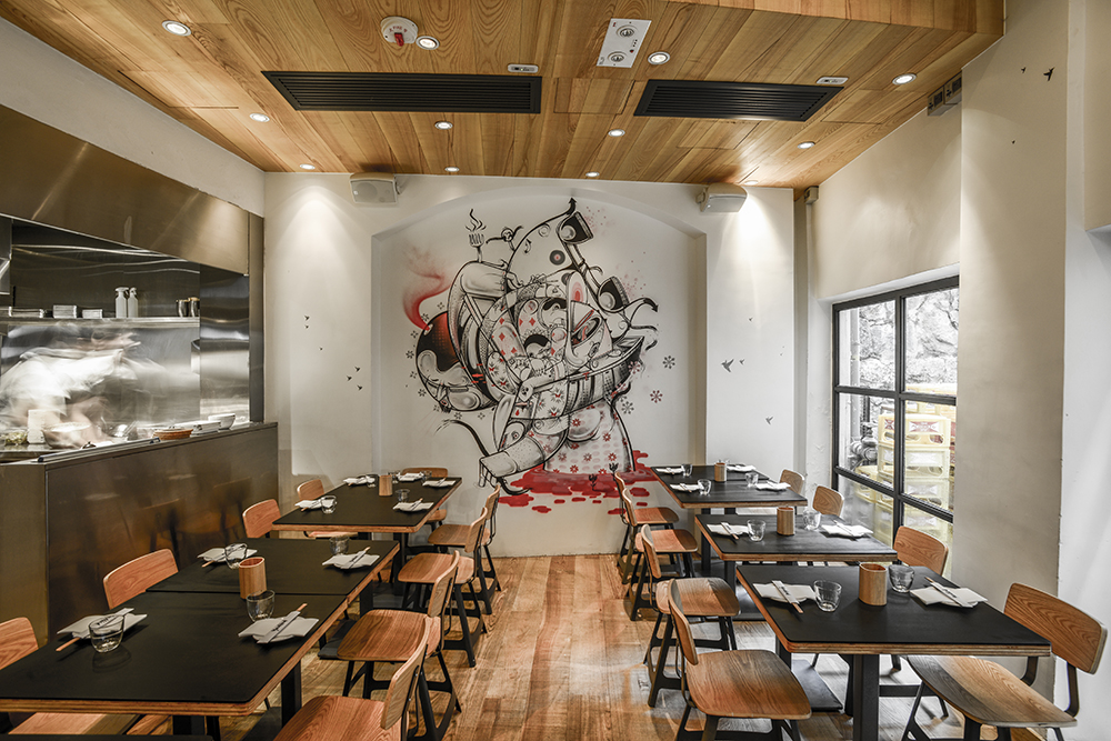 Yardbird restaurant interior architecture design sean dix