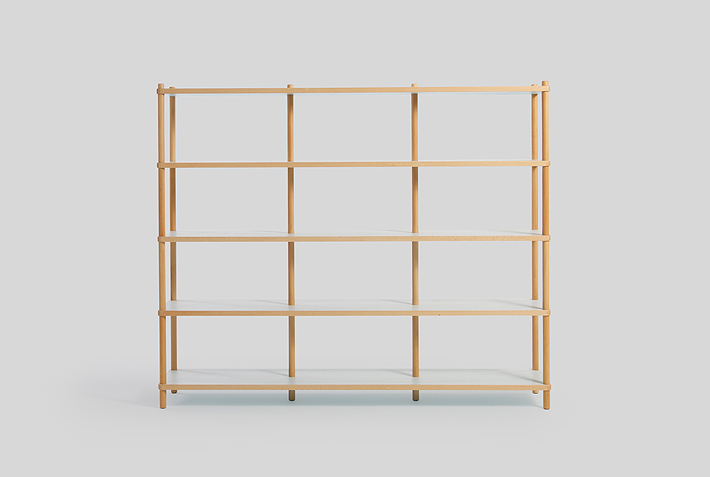 large bi colored shelves sean dix design