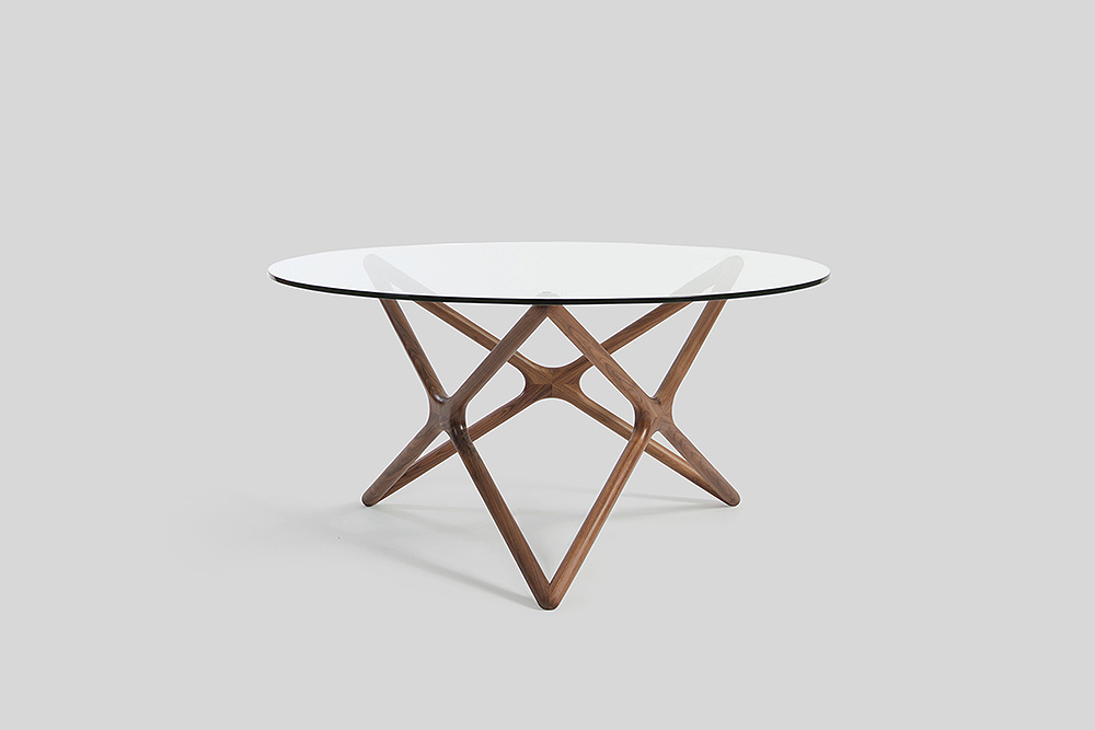 triple x dining table sean dix design