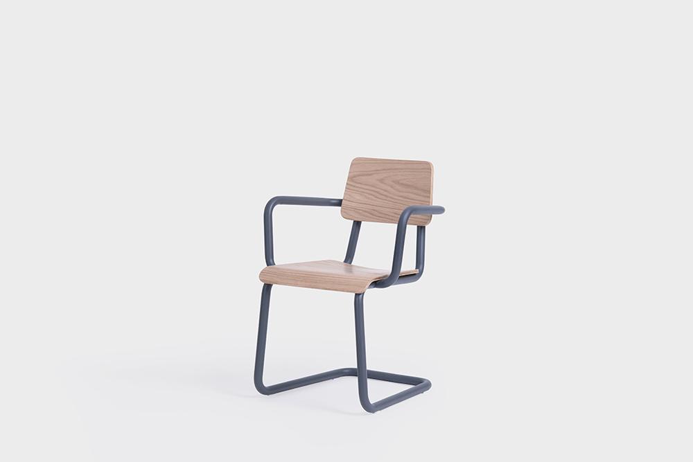 sean dix design cantilever arm chair