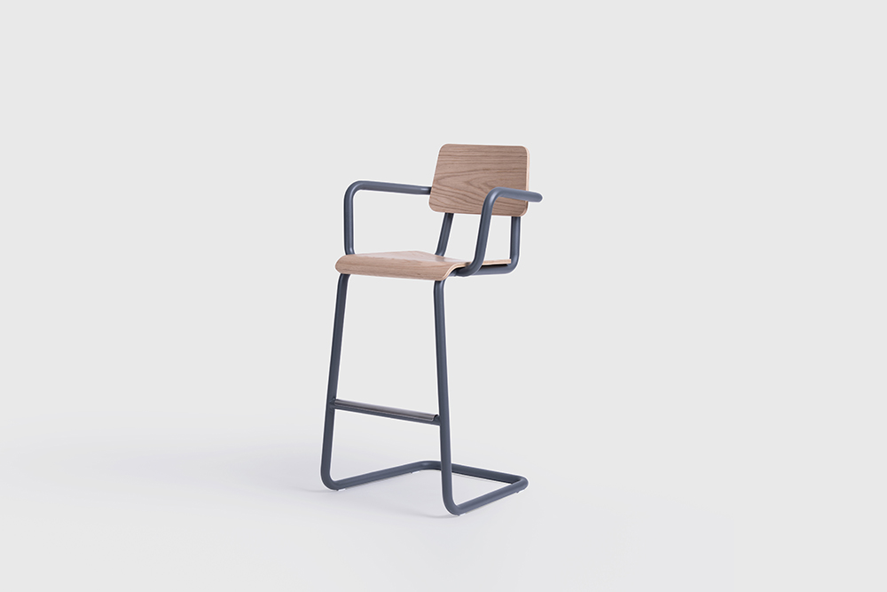 sean dix design cantilever bar stool_2
