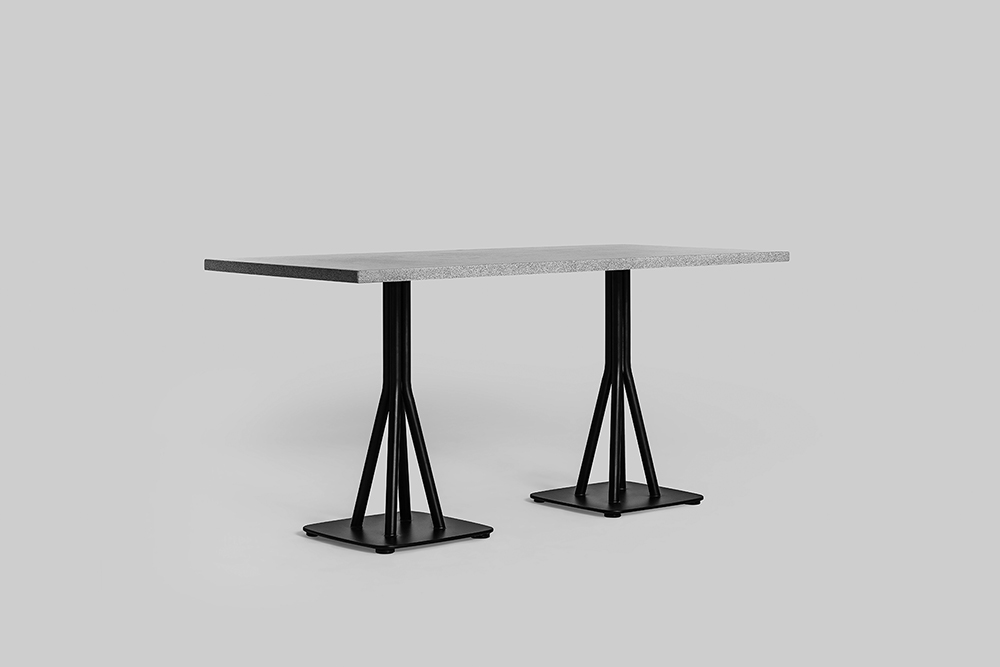 sean dix design chom chom double pedestal table