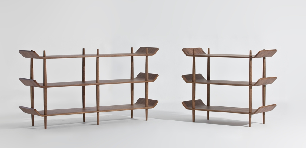 bentwood shelves designed by sean dix walnut
