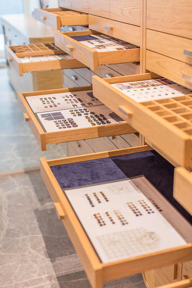 TAL Apparel Corporate Showroom_Custom Display Drawers_Designed by Sean Dix_3