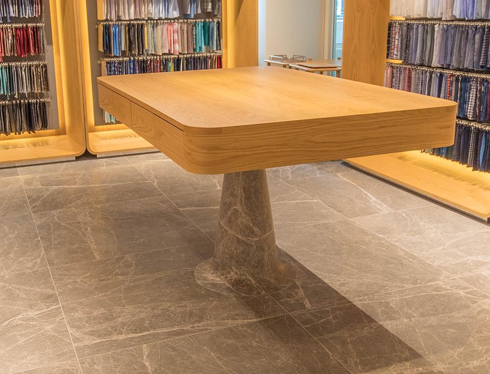 TAL Apparel Corporate Showroom_Custom Work Table_Designed by Sean Dix