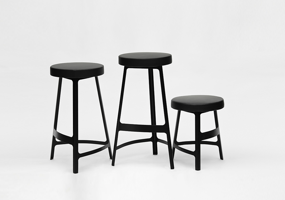 Factory Stool Black Group_Design by Sean Dix