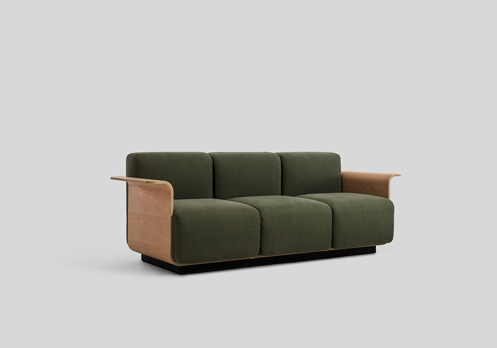 Small 3 Seat Ply Sofa Designed by Sean Dix
