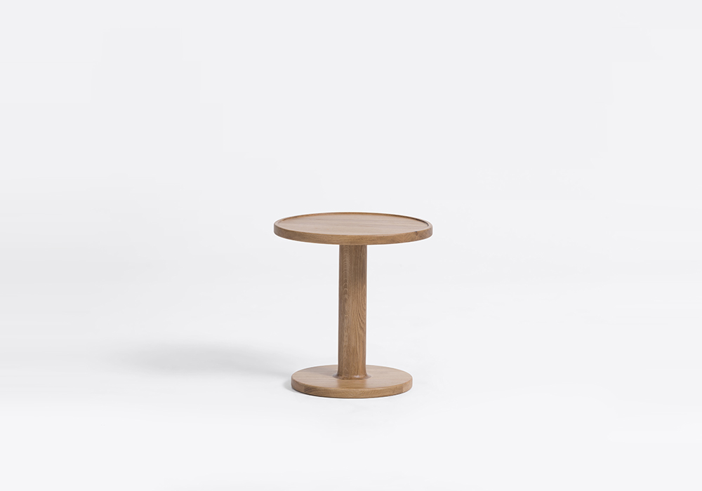 bobbin round side table designed by sean dix