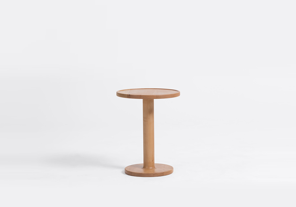 bobbin small round side table designed by sean dix