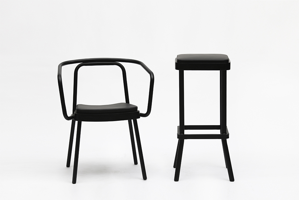Chom Chom Chair and Bar Stool Designed by Sean Dix