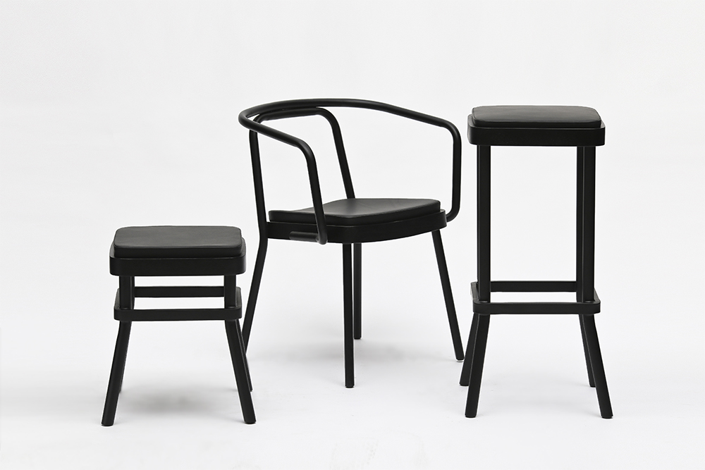 Chom Chom Stools and Chair Designed by Sean Dix