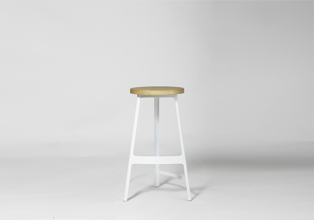 Wood Seat Factory Stool Designed by Sean Dix