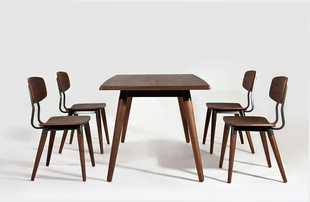 Copine Dining Table and Chair Set_walnut_designed by Sean Dix
