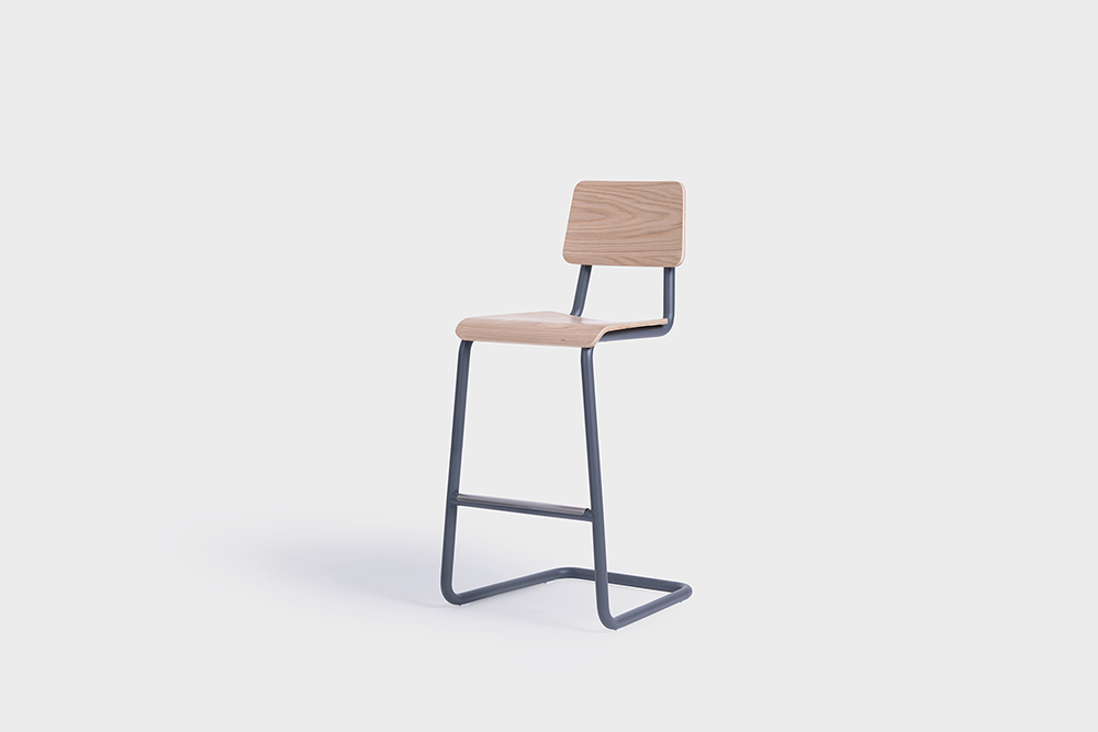 Cantilever Chair And Barstool Group Modern Dining Chairs